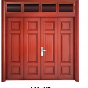 Cửa thép vân gỗ Bốn cánh cân A44-NC